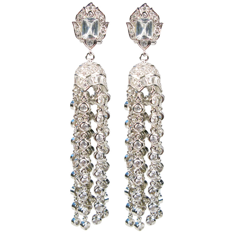 Timeless Treasure Tassel Diamontage™ 12.8 Carat Earrings