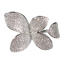 Load image into Gallery viewer, Margaret Rowe Pavé Leaf Diamontage™ 1.2 Carat Ring