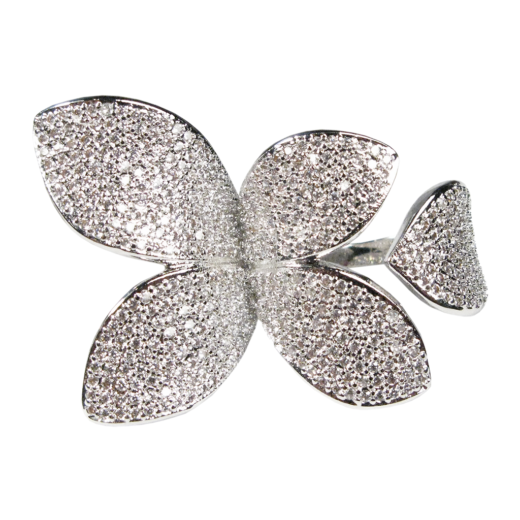 Margaret Rowe Pavé Leaf Diamontage™ 1.2 Carat Ring