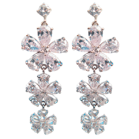 Buttercup Flower Trio Diamontage™ 34.32 Carat Earrings