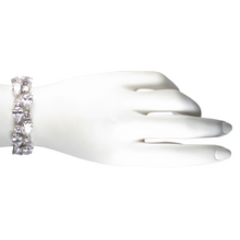 Load image into Gallery viewer, Silver Teardrop Diamontage™ 28.6 Carat Bracelet