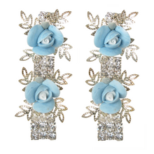 Load image into Gallery viewer, It's My Fairytale Blue Rose Earrings