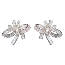 Load image into Gallery viewer, Baguette Bow Serenade Diamontage™ 8.6 Carat Earrings