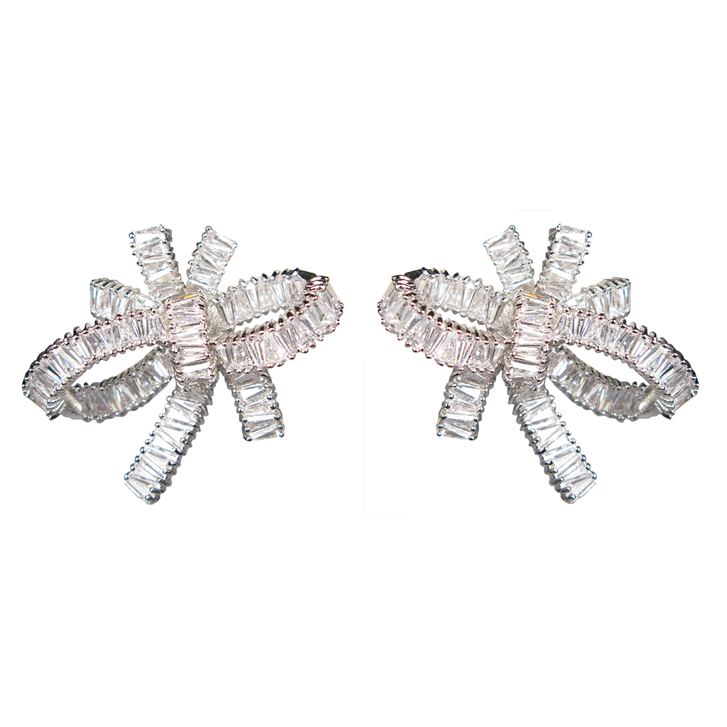Baguette Bow Serenade Diamontage™ 8.6 Carat Earrings