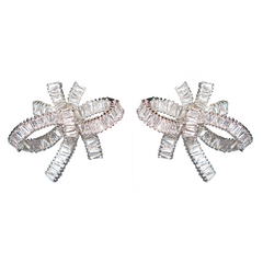 Baguette Bow Diamontage™ 8.6 Carat Earrings