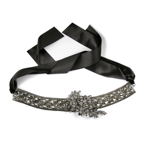 Noir Black Diamond Encrusted Sash