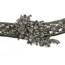 Load image into Gallery viewer, One-Of-A-Kind Noir Black Diamond Encrusted Headpiece