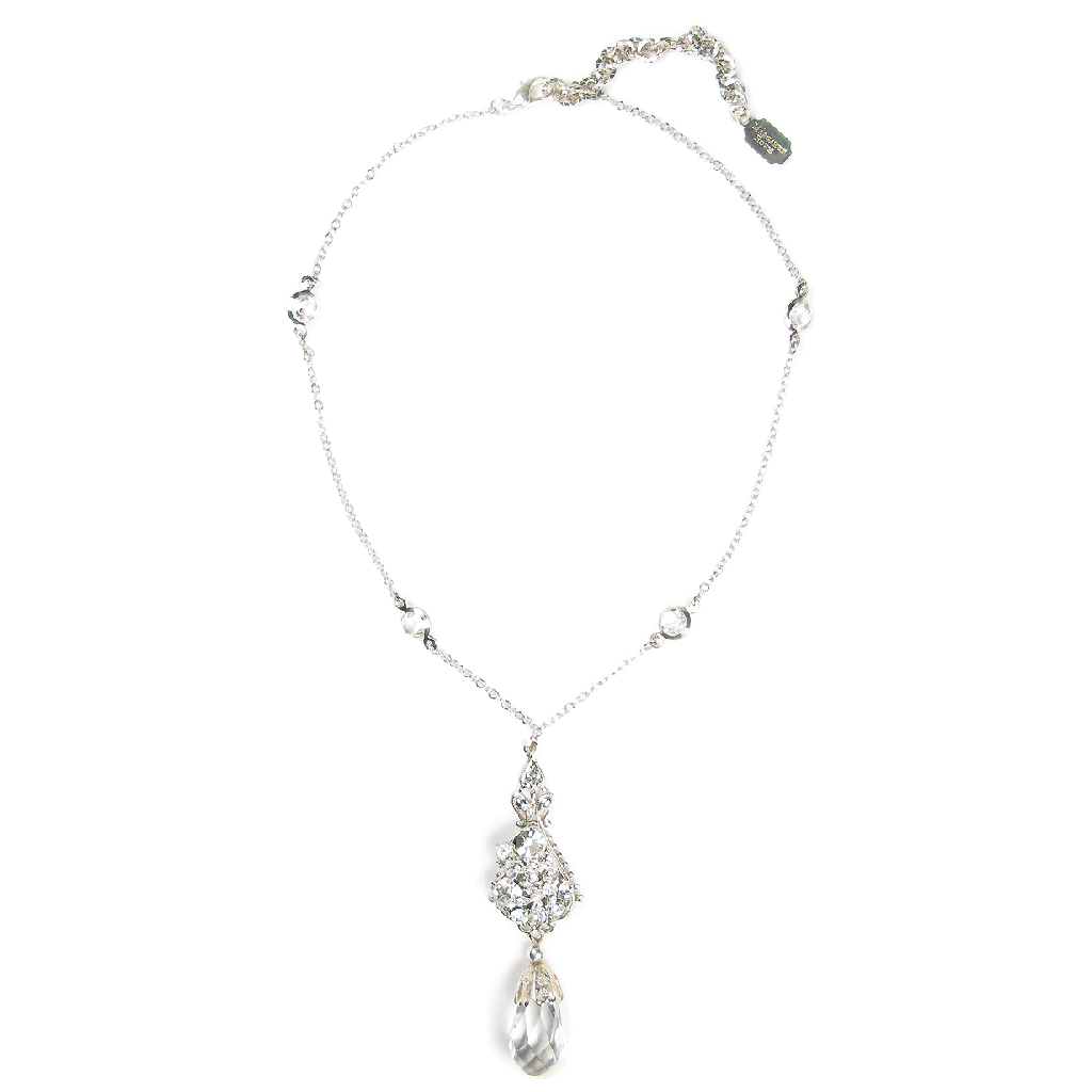 One-Of-A-Kind Delicate Channel Filigree Necklace