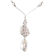 Load image into Gallery viewer, One-Of-A-Kind Delicate Channel Filigree Necklace