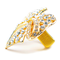 Golden Gatsby Bow Tie Ring