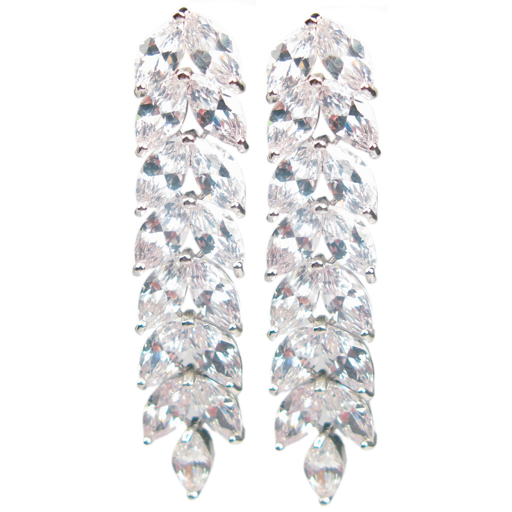 Cascading Laurel Diamontage™ 10.5 Carat Earrings