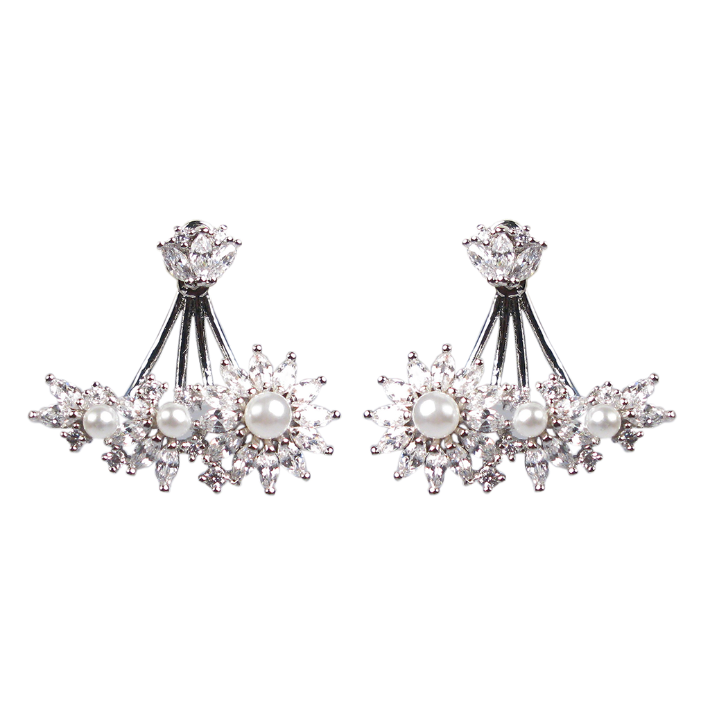 Delicate Pearl Marquise Diamontage™ 4.5 Carat Ear Jackets