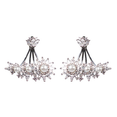 Delicate Pearl Marquise Diamontage™ 4.5 Carat Ear Cuffs