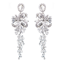 Load image into Gallery viewer, Bow Baguette Waterfall Diamontage™ 9.85 Carat Earrings