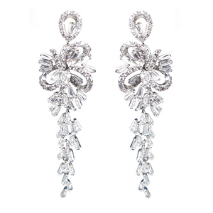 Bow Baguette Waterfall Diamontage™ 9.85 Carat Earrings