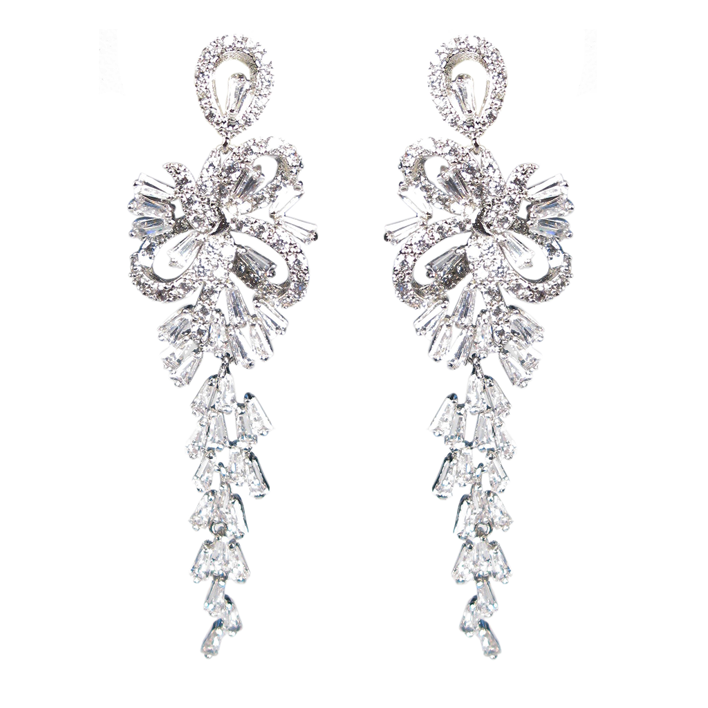 Baguette Waterfall Diamontage™ 9.85 Carat Earrings