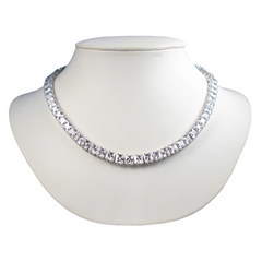 Immaculate Princess Cut Diamontage™ 30.82 Carat Necklace