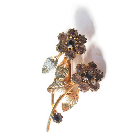 Weeping Violet Boutonniére / Lapel Pin