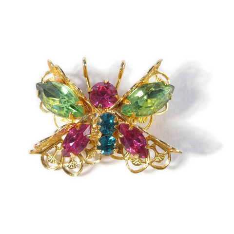 Rainbow Bumblebee Boutonniére / Lapel Pin