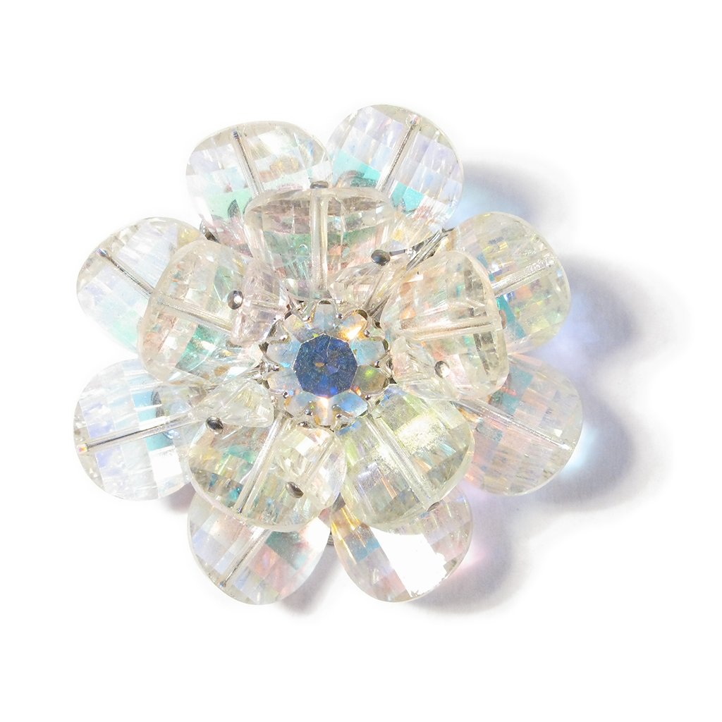 Faceted Florette Boutonniére / Lapel Pin