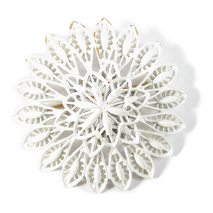 White Filigree Chrysanthemum Boutonniére