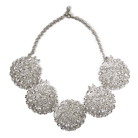 One-Of-A-Kind Circular Splendor Quintet Necklace and Headpiece