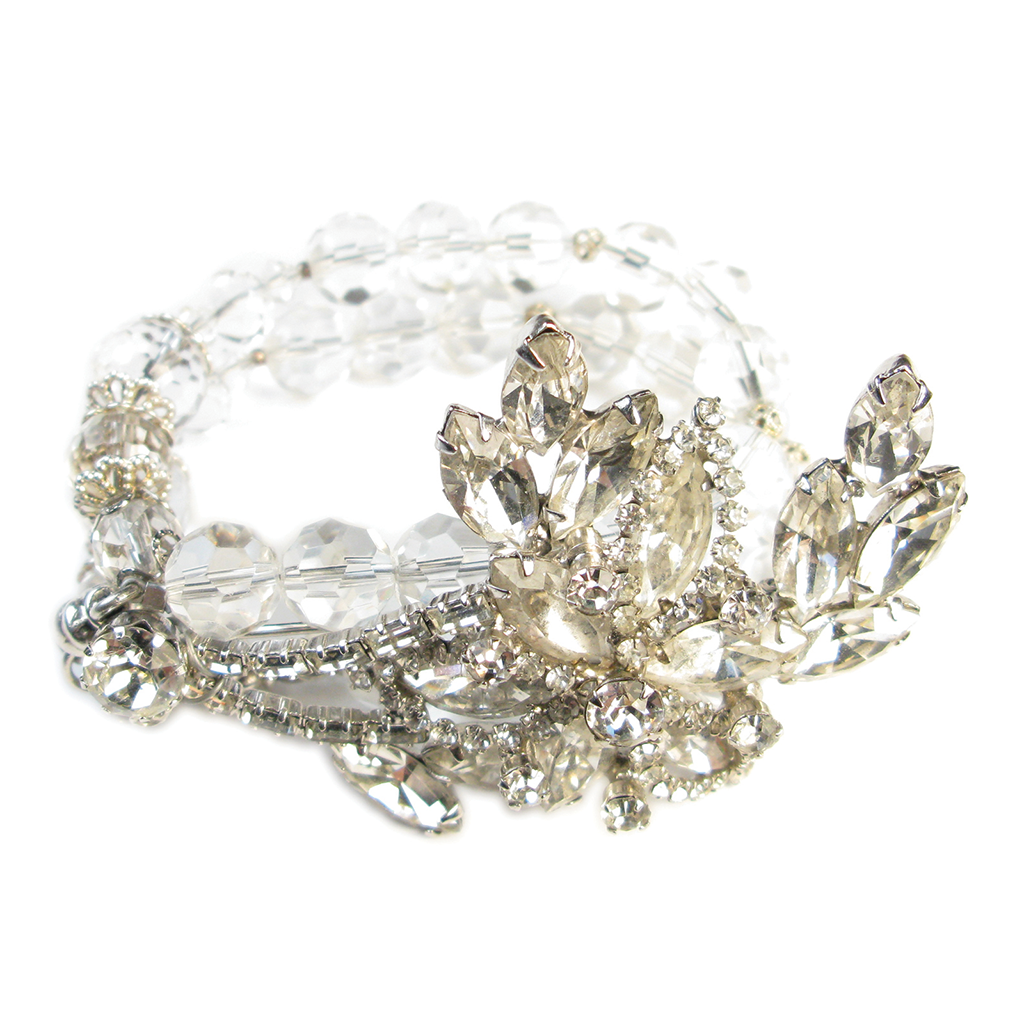 One-Of-A-Kind Vintage Couture Crystal Ice Bracelet