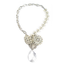 Load image into Gallery viewer, One-Of-A-Kind Estate Bouquet Cluster Trio Drop Necklace