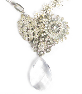 One-Of-A-Kind Estate Bouquet Cluster Trio Drop Necklace