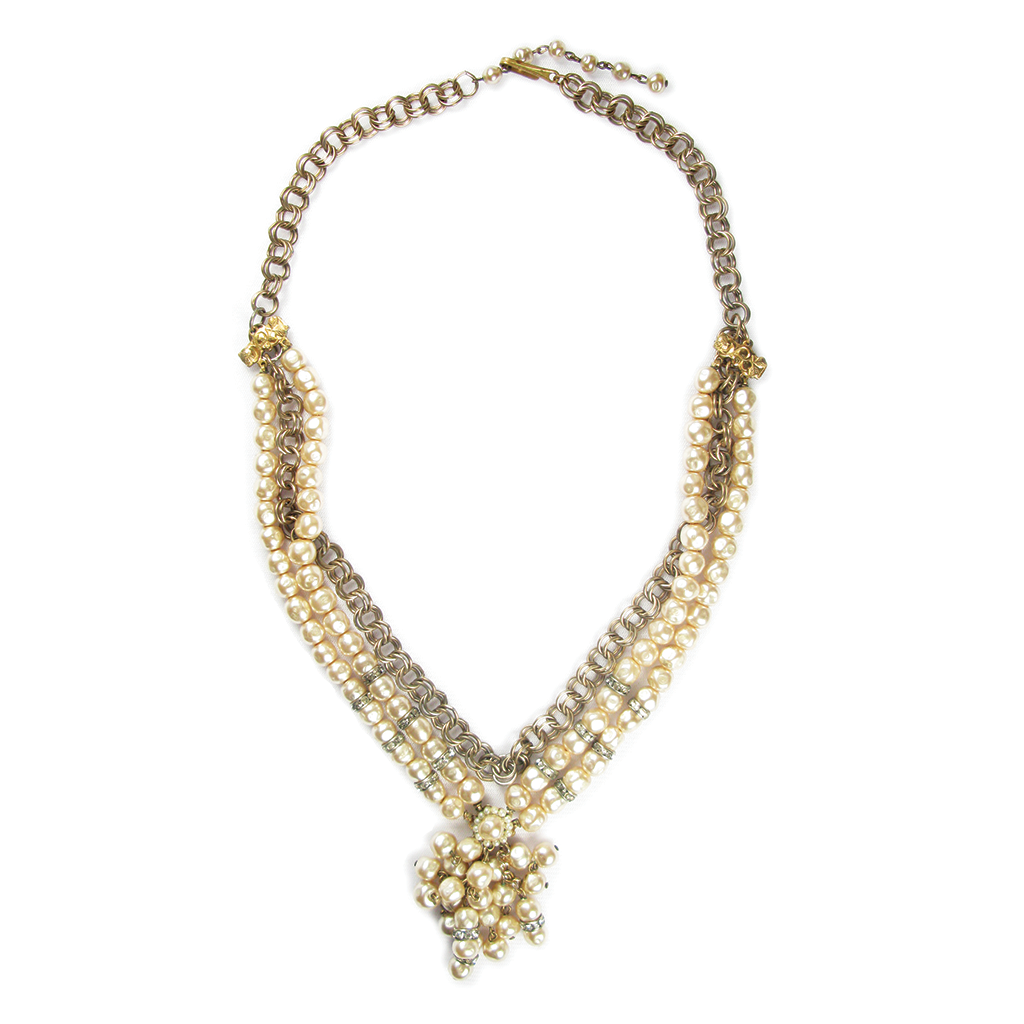 One-Of-A-Kind Vintage Couture Haskell Pearl Necklace