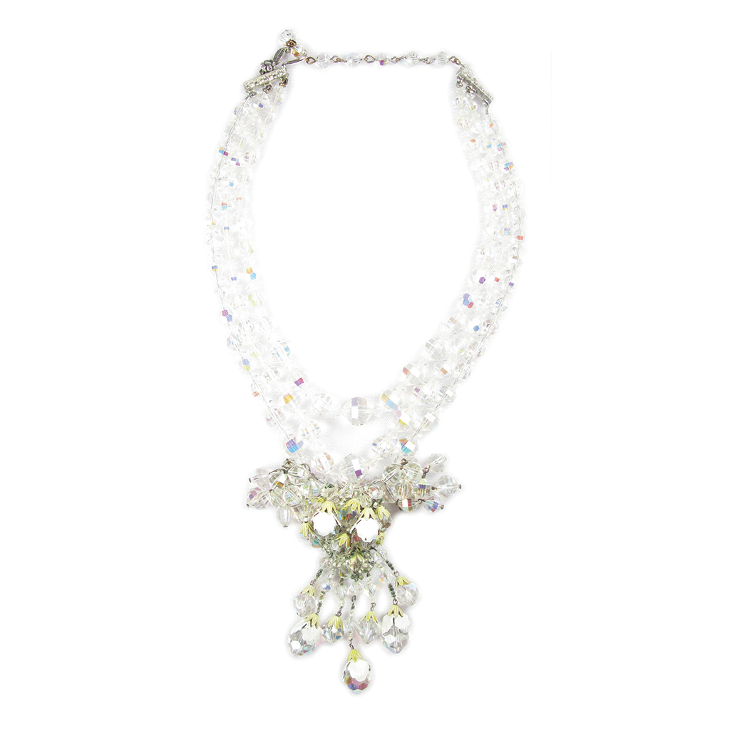 One-Of-A-Kind Estate Vendome Crystal Menagerie Necklace