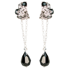 Load image into Gallery viewer, Le Jardin de Fleurs Noir Convertible Earrings