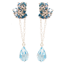Load image into Gallery viewer, Le Jardin de Fleurs French Blue Convertible Earrings