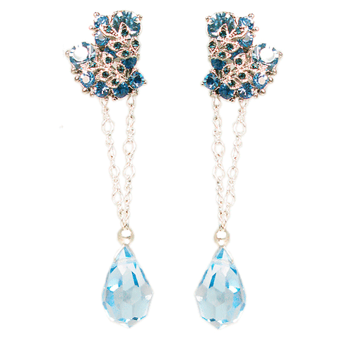 Le Jardin de Fleurs French Blue Convertible Earrings