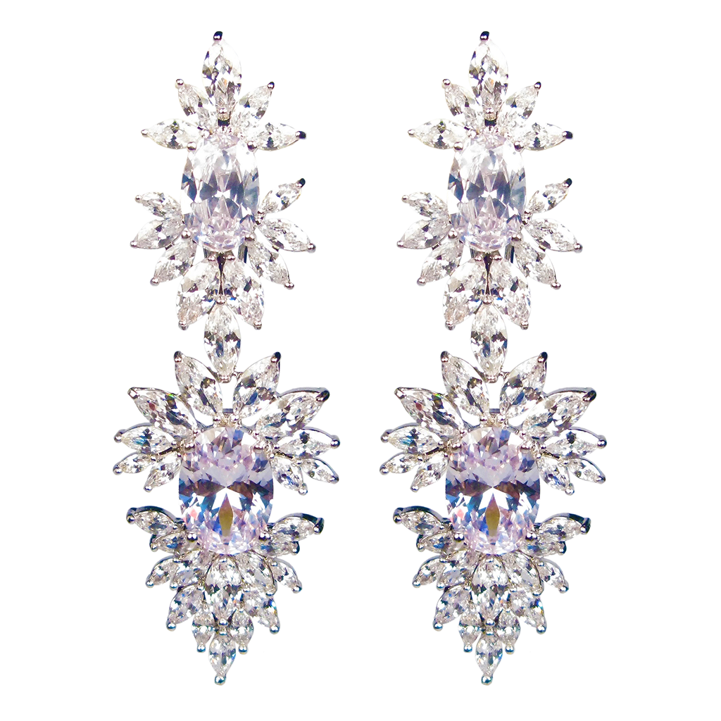 Faceted Perfection Diamontage™ 34.66 Carat Earrings