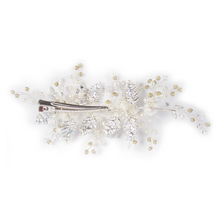 Load image into Gallery viewer, Silver Floral Spray Head Comb