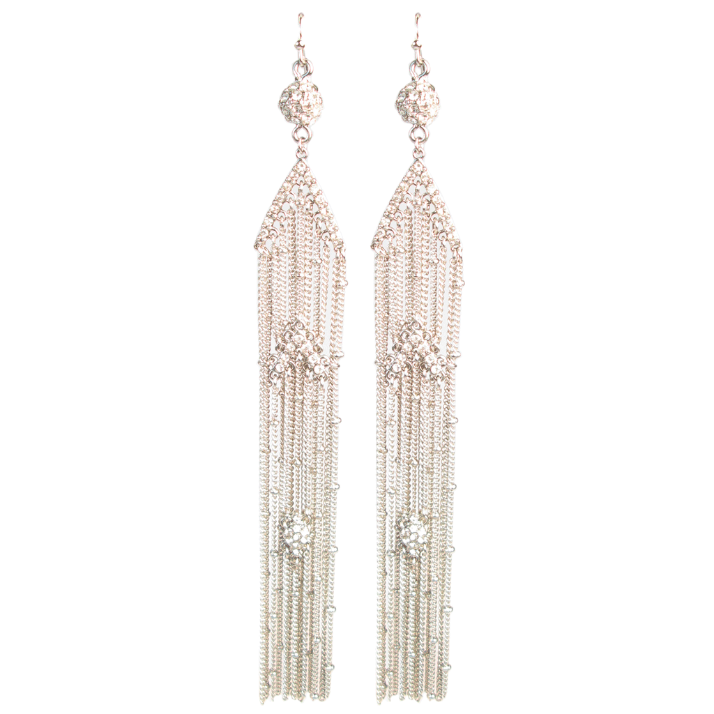 Gatsby Deco Veil Earrings