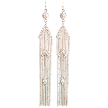 Load image into Gallery viewer, Gatsby Deco Veil Earrings