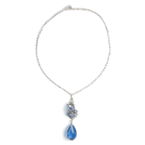 One-Of-A-Kind Something Blue Decadence Drop Necklace
