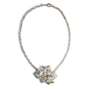One-Of-A-Kind Nouveau Corsage Chain Necklace
