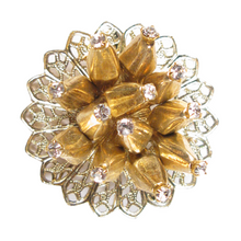 Load image into Gallery viewer, Golden Vermeil Sea Anemone Boutonniére