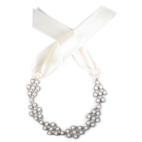One-Of-A-Kind Pearl Waltz Heirloom Headpiece & Choker