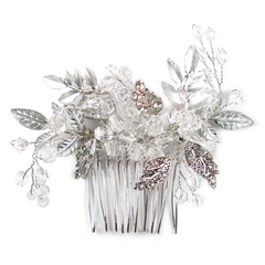Silver Bouquet Head Comb
