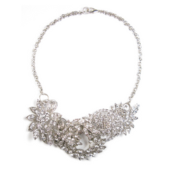 One-Of-A-Kind Opulent Floral Trio Necklace