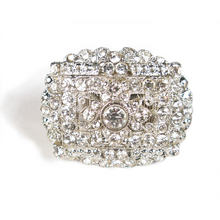 Load image into Gallery viewer, White Hot Spotlight Crystal Ring