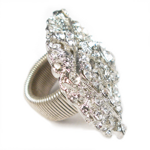 White Hot Spotlight Crystal Ring