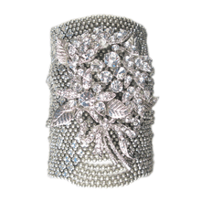 Load image into Gallery viewer, Midnight Menagerie Mesh Cuff Bracelet