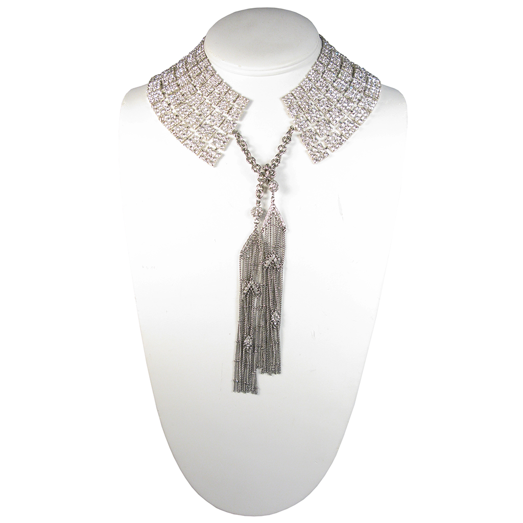Art Deco Cleopatra Tassel Collar Necklace