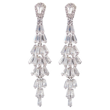 Load image into Gallery viewer, Baguette Waterfall Diamontage™ 7.85 Carat Earrings