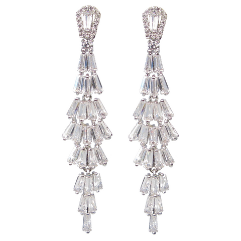Baguette Waterfall Diamontage™ 7.85 Carat Earrings
